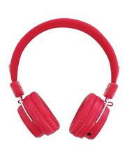 BeeWi BBH120 Wired or Wireless Bluetooth Stereo Headphones - Pink
