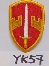 VINTAGE EMBROIDERED PATCH US ARMY COMMAND SWORD RED AND ORANGE