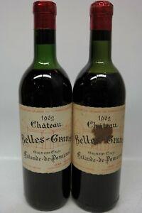 2 x Chateau Belles-Graves 1962 Lalande de Pomerol Grand Cru, je 750ml