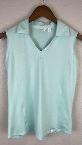 Lady Hagen Sleeveless Golf Tank Top Shirt Light Blue Teal Mint Green Ladies XS