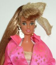 SUPER RARE VINTAGE 1990 Hollywood Hair Barbie Teresa Doll, Fashion & Stand.