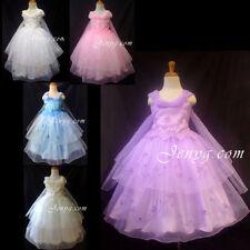 Robes soirées en polyester sans manches pour fille de 2 à 16 ans