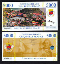 ★★ ILE DE SAINT BARTHELEMY : BILLET TEST POLYMER 5000 FRANCS ★★★