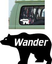WANDER BEAR Voiture Autocollant Pare-choc vinyle camping car voyage camping-car