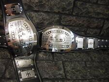 New Tag Team Championship Belts King Model Black Straps Metal Plates 2 Belts