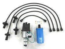 Vw Bug Ignition Kit With 009 Distributor, 12V Beru Blue Coil, Black Wires (USA)