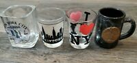 LK NW Beautiful Lot Of 4 Shot Glasses New York City NYC Themed