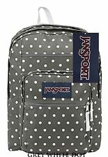 JanSport Big Student Backpack Shady Grey White Dots 100 Authentic School