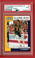 2019 PANINI CONTENDERS  JA MORANT ROOKIE DP #2 GAME DAY TICKET PSA 9 MINT