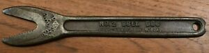 Vintage J. H. WILLIAMS No. 2 Bull Dog Alligator Wrench, Drop Forged in U.S.A.