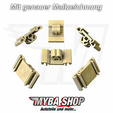 15x puerta fijación clips Vauxhall Opel Astra Zafira KLIPS gris 172923 nuevo
