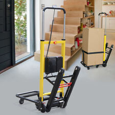 Electric Mobile Folding Stair Climbing Handcart Dolly Trolley 160KG Max Load 24V