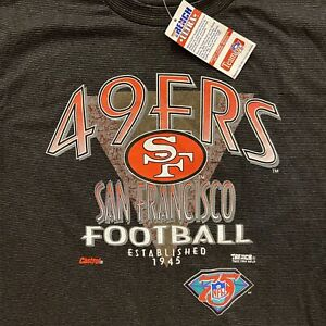 VINTAGE San Francisco 49ers Shirt Mens XL Black Trench Ultra 1994 NFL T-Shirt