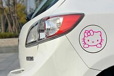 Hello KITTY MIROIR voiture autocollant sticker 10cm x 10cm Fun bouchon de réservoir Chat
