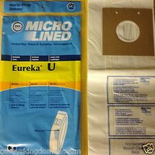 3 Eureka U Upright Vacuum Bags Made by DVC in the USA