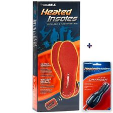 ThermaCell Heated Insoles Foot Warmer Rechargeable XX-Large XXL  W/ Car Charger