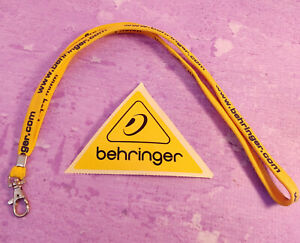 Behringer LOT Audio Yellow Logo Sticker Decal and Yellow Lanyard with Website