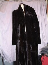 lip service  WIDOW Black Spectre Love Velvet Hooded Long Jacket blk s