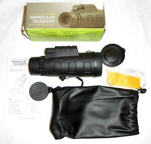 New 10X Waterproof Fogproof Monocular Telescope Hunting Bird Watching Racing NIB