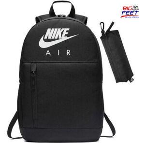 """Nike """"Air"""" Elemental Kids School Backpack Phone Travel Bag Black BA5767-010 NWT"""