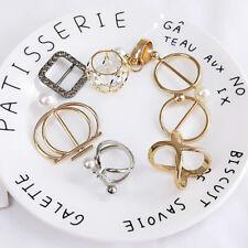 Women Scarf Ring Fashion Scarves Clip Buckle Holder Brooch Pin Tassel Rhinestone