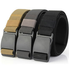 "3PCS 1.5"" Tactical Mens Webbing Elastic Belt Army Training Sports Trousers Belts"