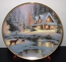 """Deer Creek Cottage"" Thomas Kinkade Gather At Our Home Collection Plate 1996 COA"