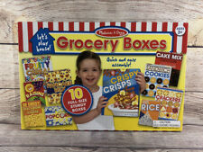 Melissa & Doug Grocery Boxes Play Food Kitchen Accessory Lets Play House - NEW
