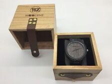 Woodenz Handcrafted Ebony Wood Watch, Japanese Miyota Quartz, Ebony Wood Strap