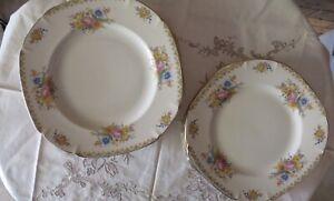 John Maddock & Sons Ivory Ware Dinner & Entre Plates. 'Sunchow' Design