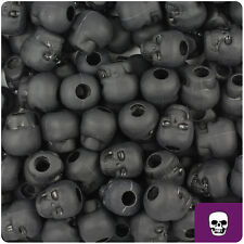 150 Black Matte 11mm Halloween Skull Pony Beads Made in the USA