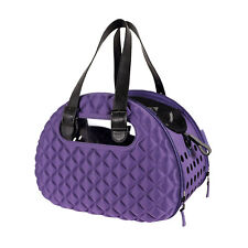 Ibiyaya Collapsible Pet Carrier with Shoulder Strap - Diamond Deluxe Purple