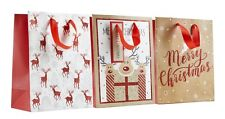 Christmas Bags Mix Pack of 3 18x24x10cm