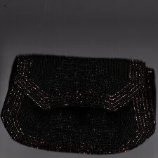 Bullock's Brown Beaded  Evening  Clutch Bag with Mirror  Made in Belgium