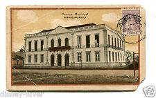 Vintage Postcard BENGUELA ANGOLA Camara Municipal w stamp & cancel 1928