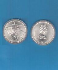 Canada Jeux Olympiques de 1976 10 Dollars argent 1973 World Map