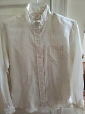 Equestrian Show Shirt Ladies Size 10 White pinstripe Beaufort