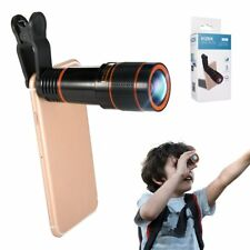 Phone Camera Lens Kit, Hizek 12X Universal Optical Zoom Lens Marco Lens Focus Te