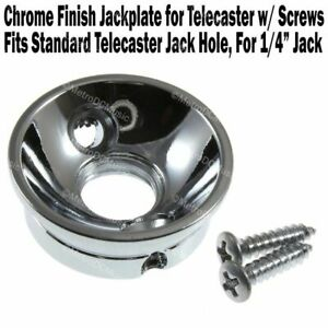 ELECTROSOCKET Jack Plate fits Fender Telecaster CHROME Upgrade Your Tele!