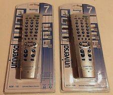 Quantum FX Universal TV Remote Controls / 7 Components   REM-100 LOT of 2