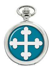 Heraldic Cross Bottony Pocket Watch