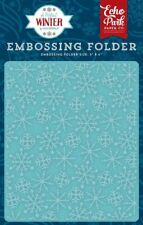 """ECHO PARK """"A PERFECT WINTER"""" EMBOSSING FOLDER FROSTY SNOWFLAKES SCRAPJACK'S PL"""