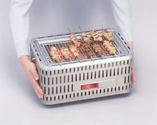 On the Go Japanese Tabletop Charcoal Hibachi Grill  (Stainless Steel)