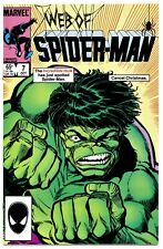 1)WEB OF SPIDER-MAN #7(10/85)HULK/WOLVERINE/THOR(DAVID/BUSCEMA)CGC WORTHY(9.8)!!