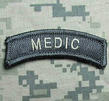 MEDIC TAB USA ARMY VELCRO® BRAND FASTENER ACU LIGHT MORALE BADGE PATCH