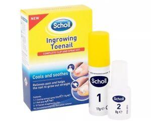 Scholl Ingrowing Toenail Treatment Clip Spray Kit *Genuine UK Stock*