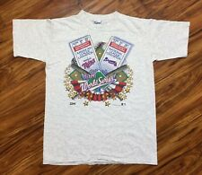 VTG 1991 World Series Atlanta Braves vs Minnesota Twins T-Shirt MLB Salem Sz L