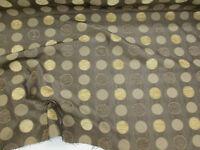 "Brown Jacquard ""Malham Spot"" Curtaining/Upholstery Fabric."