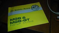 THE ROADSTER FACTORY MGB & MGB-GT FIX UP CLINIC LATE 1980'S BOOKLET TRFMG1