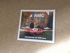 AMC Introducing The 1974 Cars Brochure